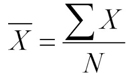 Formula for the Mean