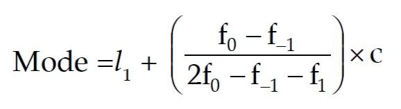 Formula for the Mode